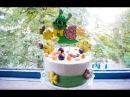 Медовик с абрикосами Сборка Рецепт творожного крема Пряничные топперы