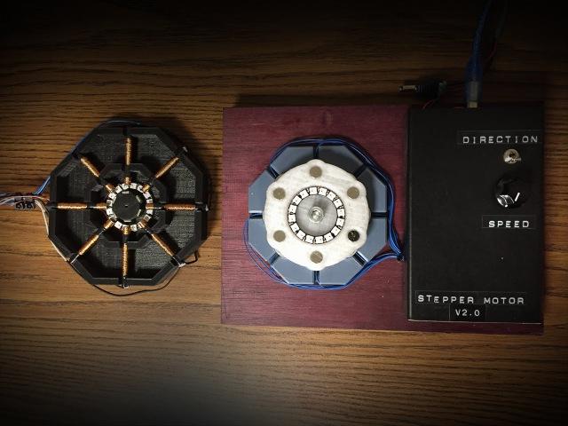 3D Printed Axial Flux Stepper Motor