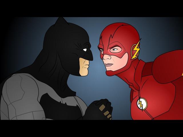 Флэш против Бэтмена - Лига Справедливости. Часть 1