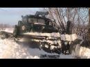 Робота по розчистці снігових заметів в Деражнянському районі