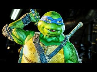 INJUSTICE 2 Leonardo Ninja Turtles All Intros Dialogue Character Banter TMNT 1080p HD