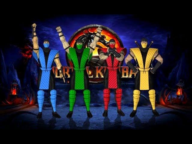 Mortal Kombat 9 (PC) - MK2 Klassic Ninja Costumes mod - Gameplay Download Link