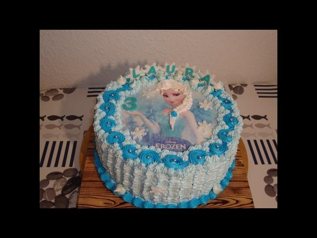 Кремовый торт ,,Эльза/Eiskönigin Torte