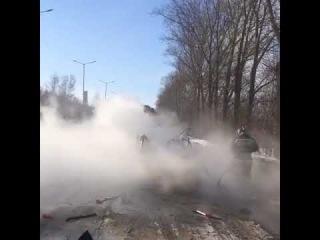 Трасса Ульяновск- Димитровград взорвался газовый баллон в машине