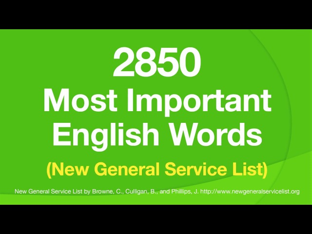 2850 Most Important English Words - With definitions in easy English