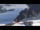 Хорошо горит В РФ вспыхнула подводная лодка Кто то опять обед подогревал