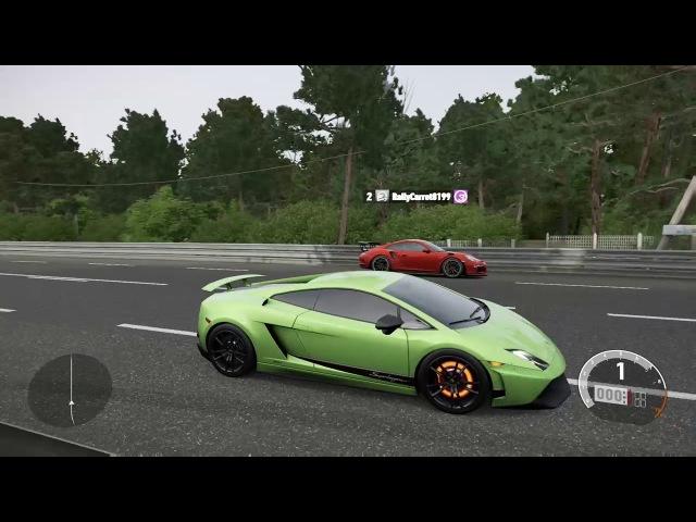 Forza 7 Drag race: Lamborghini Gallardo LP570-4 Superleggera vs Porsche 911 GT3 RS