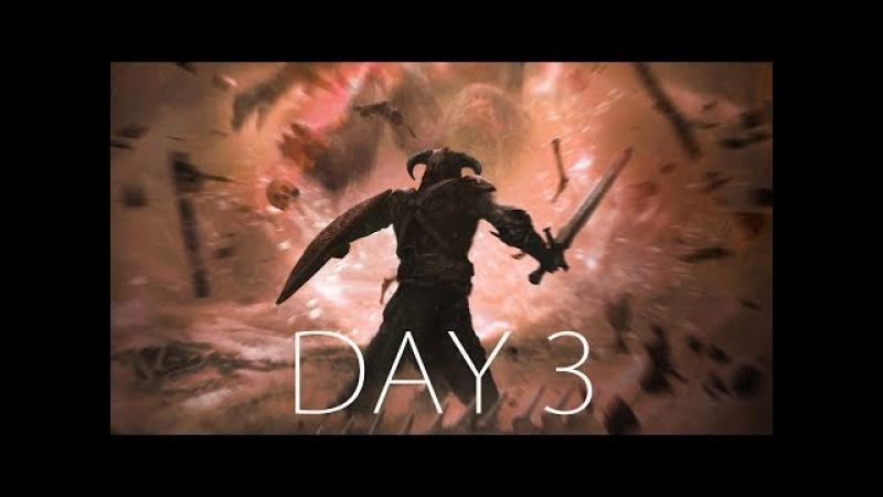 ИСПЫТАНИЯ КРОВЬЮ, ПОТОМ, БОЛЬЮ, ХОЛОДОМ, ОГНЕМ, БОЛЕЗНЬЮ и ДРАКОНАМИ ● SKYRIM HARD - Day 3