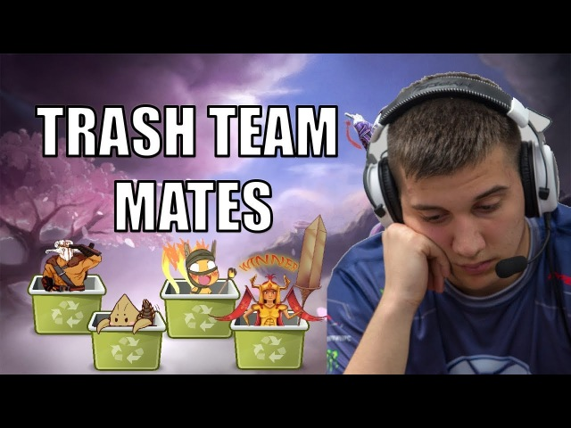 Dota 2: Arteezy - Trash Team Mates