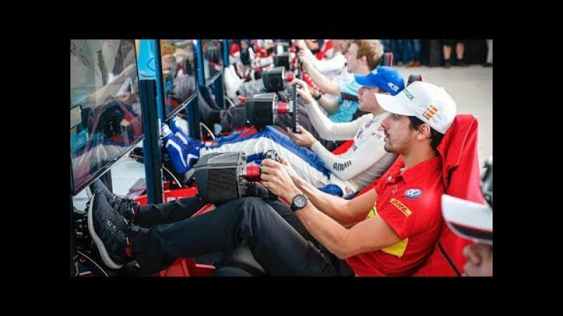 Racing Drivers vs Kwebbelkop vs Fans Punta del Este E Race ABB FIA Formula E Championship