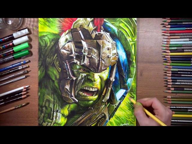 Drawing Hulk - Thor: Ragnarok | drawholic