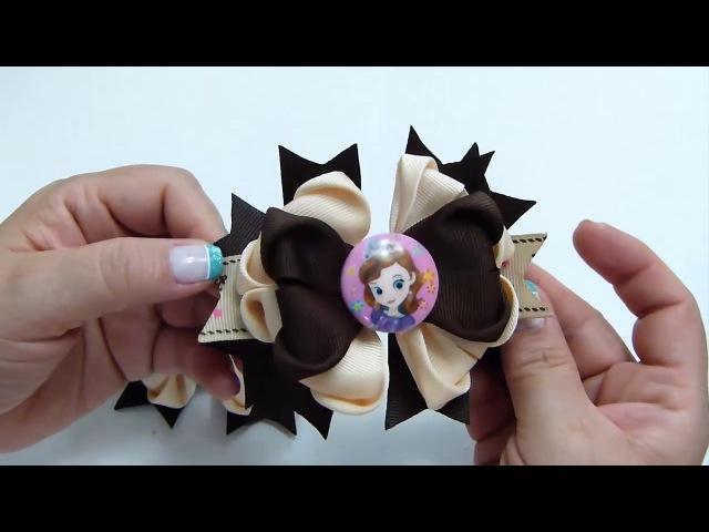 Moño hermoso para las Niñas con Liston Falla Ribbon Hair Bow
