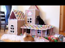 EPIC DIY Gingerbread House for Cats!