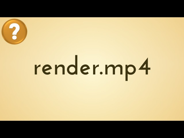 Quick Render to Video Format - BLENDER HOW TO | RENDERING