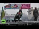 21 января 2014 Киев Грушевского Ukraine Kiev protesters rebuild barricades closer to police lines
