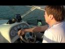 Учусь управлять моторной лодкой...