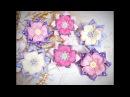Простые бантики канзаши излент Kanzashi Flower DIY Grosgrain Ribbon Flower Flor de Fita Ola ameS DIY
