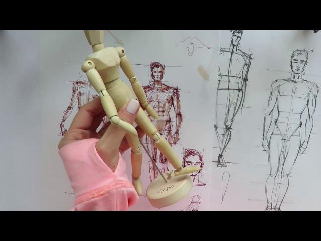 👱🏼✍🏼Деревянный манекен в фэшн скетчинге Как использовать