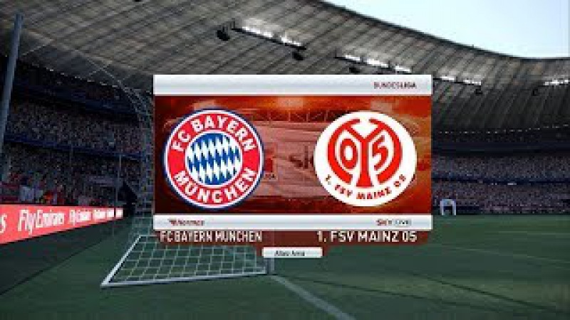 Bayern Munchen vs Mainz   Bundesliga   Allianz Arena   PES 2017 Full HD 1080p60   Super Star