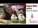 Faça fácil o Enfeite Papai Noel no Cone de Isopor