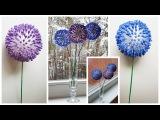 Easy to DIY Q-Tip Flower Craft Tutorial МК цветы из ватных палочек декор интерьера
