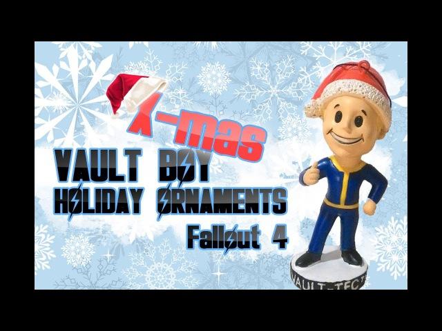 ❄Обзор vault boy holiday ornaments❄