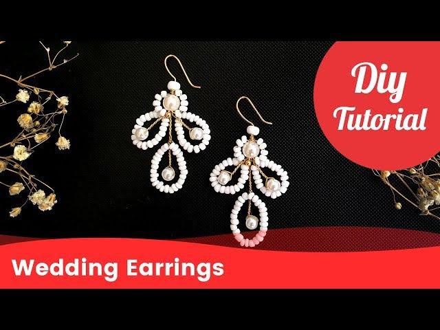 DIY Earrings for Wedding. Handmade Bridal Earrings [Eng Subs]