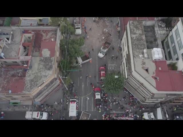 Последствие землетрясения в Мексике
