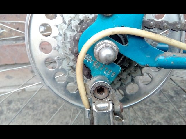 Велосипед ХВЗ 1980 года .Разборка и сборка задней трещетки, каретки, задней перекидки