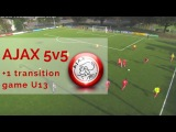 AJAX 5v5 1 transition game U13s