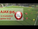 AJAX 5v5 1 transition game U13s