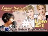 Vector x Vexel Art Tutorial #1 Line Art (Emma Watson) With Voice Explanation Bahasa Indonesia