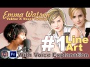 Vector x Vexel Art Tutorial 1 Line Art Emma Watson With Voice Explanation Bahasa Indonesia