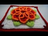 Crochet 3D Flower Square nr2