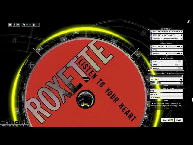 Warframe Mandachord: Roxette - Listen To Your Heart
