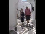 Streets of Mykonos Island In Greece