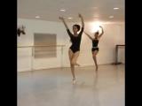 Разминка балерин на пуантах под песню Shape of you - Ed Sheeran