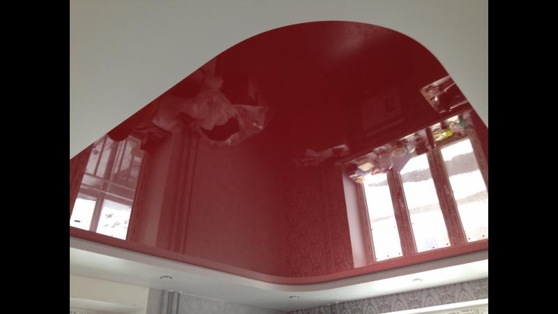 Смена цвета на двухуровневом потолке был розовый стал темно красный смотреть онлайн без регистрации