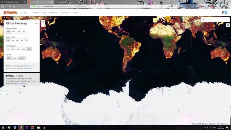 Geheime Untergrund Städte aufgedeckt? Strava heatmap enthüllt DUMBS in der Antartis