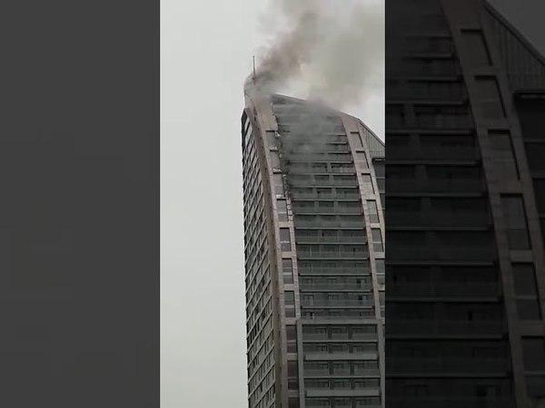 """SON DƏQİQƏ - """"Trump Tower Baku"""" yanır (Minval.İnfo)"""