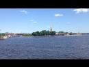 Вид с Биржевого моста на Неву.