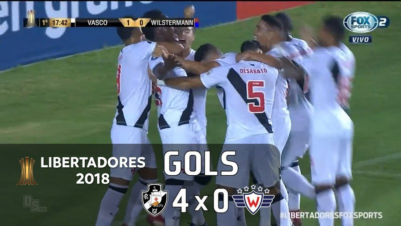 Gols - Vasco 4 x 0 Jorge Wilstermann (BOL) - Libertadores 2018 - Fox Sports HD