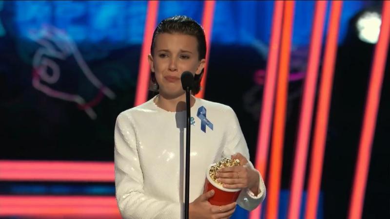 Победная речь Милли Бобби Браун на церемонии вручения Кинонаград MTV (русские субтитры)