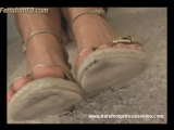 Barefoot princess Goddess Melanie Shoe Licker