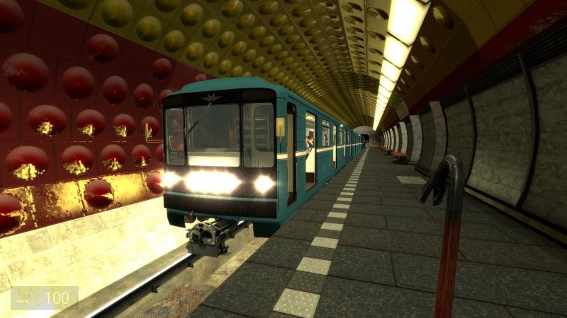 Garry's mod Metrostroi: Икарус - Аэропорт на Тип.717