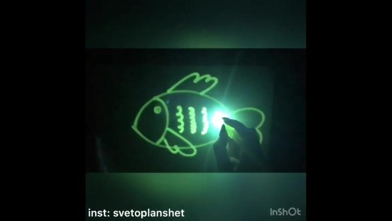 Наша любимая рубрика рисуемсветом от @ svetoplanshet 😊Сегодня учимся рисовать рыбку🐠, погружаемся в подводный мир🌊💦🐬