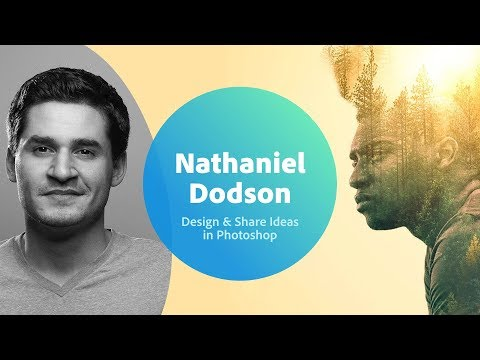 Live Designing Sharing Ideas in Photoshop with Nathaniel Dodson - 1 of 3