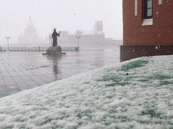 Последнее дыхание зимы: в Марий Эл в конце апреля выпал снег