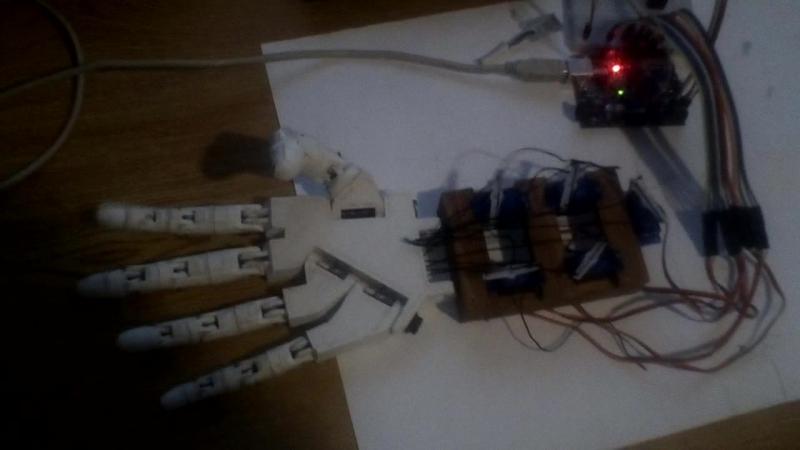 Arduino Robotics Hand. Part 2.