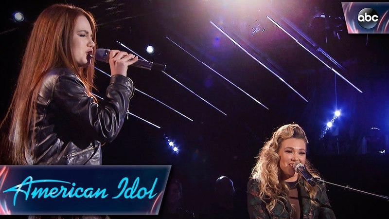Mara Justine Rachel Platten Sing Fight Song - Top 24 Duets - American Idol 2018 on ABC